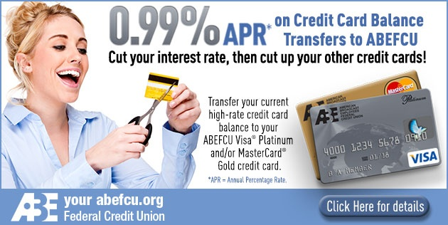 credit cards abe federal credit union - Visa Credit Card Balance